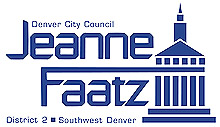 Logo image for the Jeanne Faatz for Denver City Council campaign.